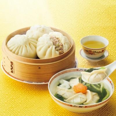 [白金瓦房]贅沢スープぎょうざ・岩中豚まんセット 冷蔵・冷凍品