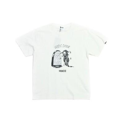 MINOS Tシャツ  GODS DOOR PIGMENT TEE  WHITE(白)   (ミノス)