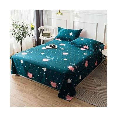 綿100ベッドシーツベッドカバー毛布子供向けシングルダブルベッドカートゥーン(枕カバーなし),グリーン,120x