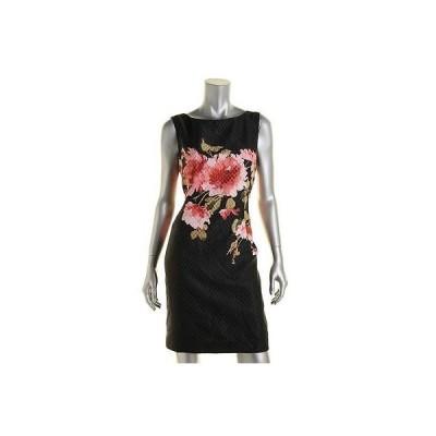 ドレス 女性  エリータハリ  Tahari 0695 レディース フローラル プリント ノースリーブ Wear to Work ドレス Petites