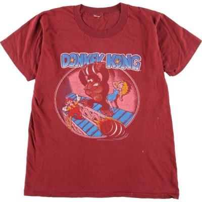 80年代 DONKEY KONG ドンキーコング キャラクタープリントTシャツ メンズS ヴィンテージ /eaa165889