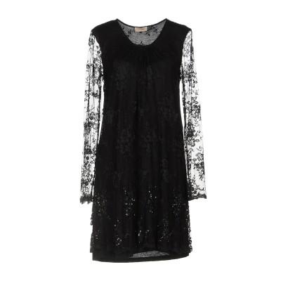 SCEE by TWINSET ミニワンピース&ドレス ブラック XS 100% ナイロン ミニワンピース&ドレス