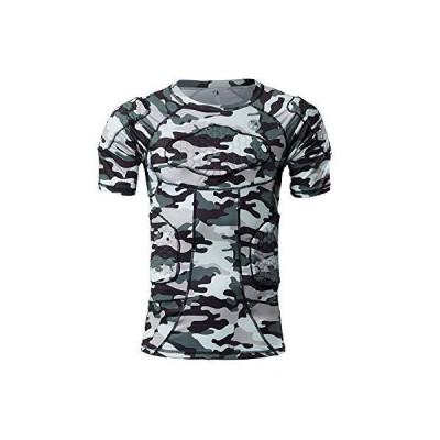 DGYAO メンズサッカーゴールキーパーボディープロテクターシャツ コンプレッションウエア スポーツインナーシ