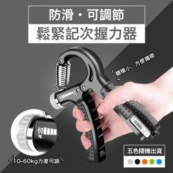 防滑可調節鬆緊記次握力器