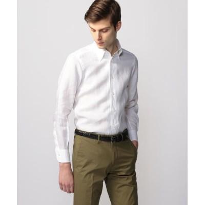 TOMORROWLAND/トゥモローランド リネンシャンブレー ワンピースボタンダウン ドレスシャツ ONEPIECE-BD 11 ホワイト M