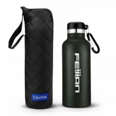 FEIJIAN 水筒 ステンレスボトル 直飲み 750ml 真空二重構造 保温 保冷 スポーツボトル 漏れなし 魔法瓶 ・・・