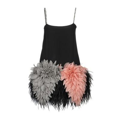 ミュウミュウ MIU MIU ミニワンピース&ドレス ブラック 38 シルク 100% ミニワンピース&ドレス