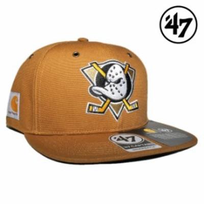 47ブランド カーハート コラボ スナップバックキャップ 帽子 メンズ レディース 47BRAND CARHARTT NHL アナハイム マイティーダックス フ