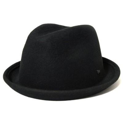 ニューエラ NEWERA 帽子 フェードラ ウールフェルト ブラック