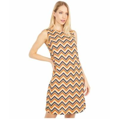 エム ミッソーニ ワンピース トップス レディース Sleeveless Zigzag Print Shift Dress Yellow Multi
