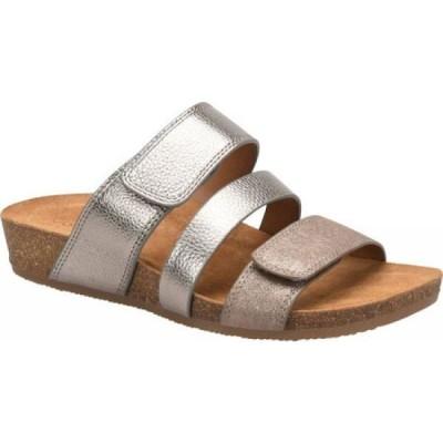 コンフォーティヴァ Comfortiva レディース サンダル・ミュール スライドサンダル シューズ・靴 Gemina Slide Sandal Anthracite/Bronze Metallic Leather