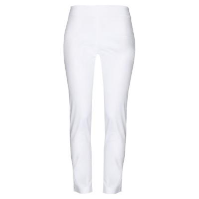 CRISTINA ROCCA パンツ ホワイト 48 コットン 97% / ポリウレタン 3% パンツ
