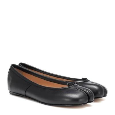 メゾン マルジェラ Maison Margiela レディース スリッポン・フラット シューズ・靴 Tabi leather ballet flats Black