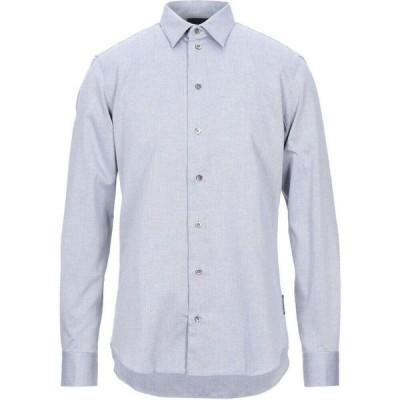 アルマーニ EMPORIO ARMANI メンズ シャツ トップス solid color shirt Slate blue