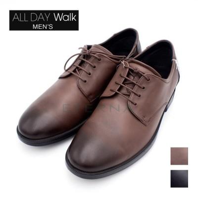 ALL DAY Walk オールデイウォーク メンズビジネスシューズ スーツ プレーントゥ 痛くない 4E 幅広 防水 ブラック ブラウン 黒 茶色 ADM0060