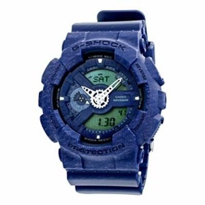 腕時計 カシオ メンズ Casio G-Shock Heathered Blue Dial Resin Quartz Men's Watch GA110HT-2A