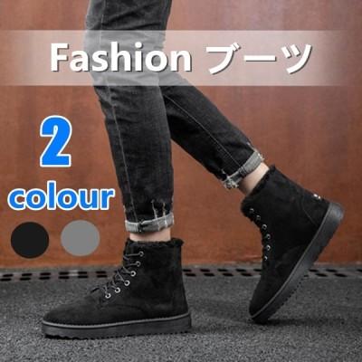マーチンブーツ メンズ スノーシューズ 復古 おしゃれ 裹起毛 ブラック 紳士靴 ムートンブーツ 厚手のデザイン
