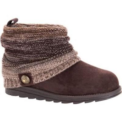 ムクルクス MUK LUKS レディース ブーツ シューズ・靴 Patti Boot Brown Acrylic/Polyester/Synthetic