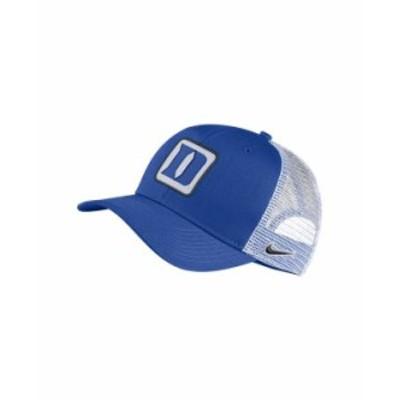 ナイキ メンズ 帽子 アクセサリー Duke Blue Devils Patch Trucker Cap RoyalBlue/White