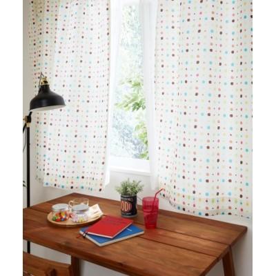 サラッとした質感の水玉柄カーテン ドレープカーテン(遮光あり・なし) Curtains, blackout curtains, thermal curtains, Drape(ニッセン、nissen)