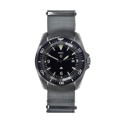 MWC Diver Swiss Quartz Steel Black Ceramic Sapphire Date Fabric NATO Men's Watch 並行輸入品