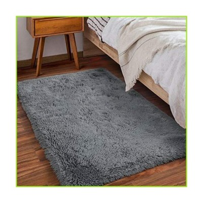 Amangel Super Soft Fluffy Rugs for Bedroom, Plush Shag Area Rugs for Living Room, Non-Slip Cozy Fuzzy Rug for Kids Room, Girls Room,Nursery,