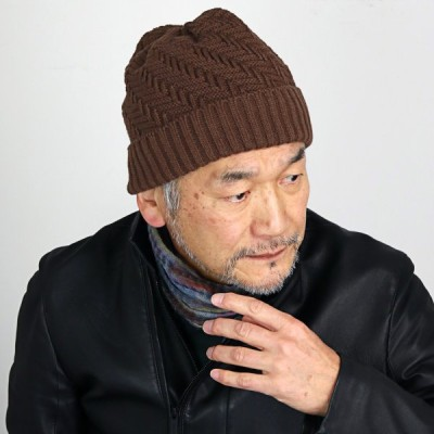 普段使い 日本製 プレゼント SIMPLE LIFE ニット帽 秋冬 ニット帽 レディース 帽子 メンズ ニットワッチ メンズ シンプルライフ 茶 ブラウン