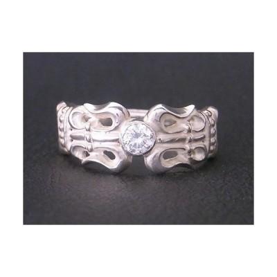 【送料無料】【Grand Galleria】百合の紋章リング 指輪 キュービックジルコニア サイズ7〜30号 シルバー925 ハンドメイド メンズ 彼氏