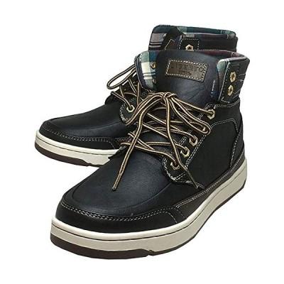 [エドウィン] 防水 メンズブーツ レインシューズ スノーブーツ スニーカー 靴 (ブラック 25cm)