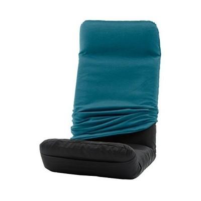 セルタン 日本製 カバーが洗える 座椅子 堕落チェア プレミアム 上タイプ タスクブルー A565UEa-585BL