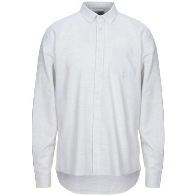 MINIMUM シャツ ライトグレー S コットン 100% シャツ