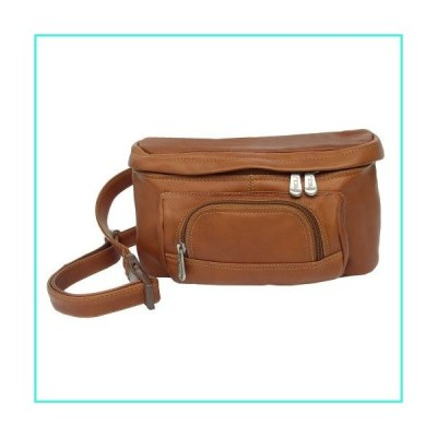 【新品】Piel Leather Carry-All Waist Bag, Saddle, One Size(並行輸入品)