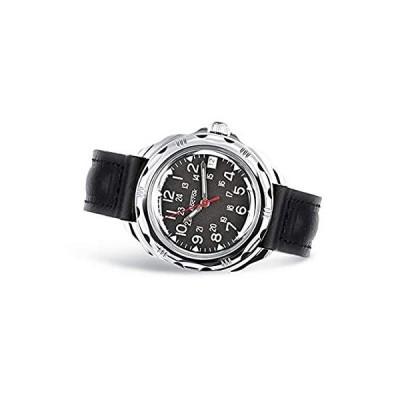 VOSTOK   Komandirskie クラシック 211783 ロシア軍機械式腕時計   WR 20 m   レザーバンドB