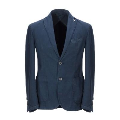 BARBATI テーラードジャケット ダークブルー 54 コットン 98% / ポリエステル 1% / ポリウレタン 1% テーラードジャケット
