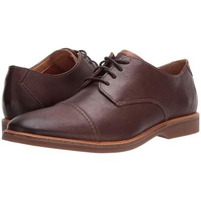クラークス Atticus Cap メンズ オックスフォード Dark Brown Leather