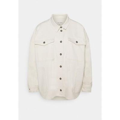 マルコポーロ シャツ レディース トップス SHIRT OVERSIZED FIT  - Button-down blouse - off-white