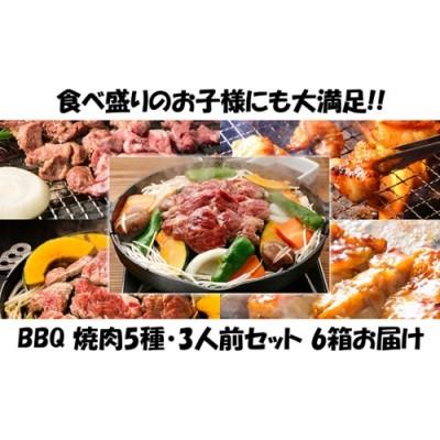 ハッピー!BBQセット ~焼肉5種 3人前コース~ 6箱セット
