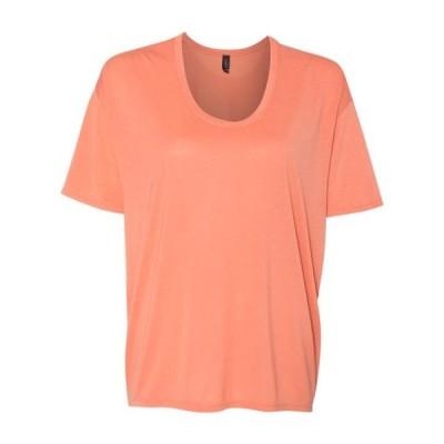 レディース 衣類 トップス Anvil Women's Freedom Drop Shoulder Tee 36Pvl Tシャツ