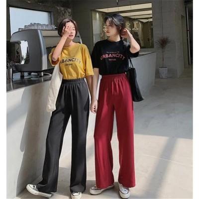 新しい 甘い 初恋の感じ 気質 シフォン スーツ カジュアル ワイドパンツ ロングパンツ