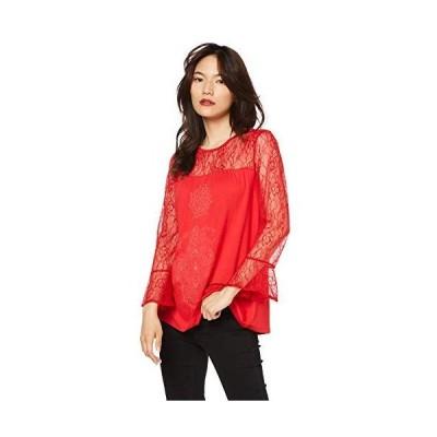 [デシグアル] Tシャツ Tシャツロングスリーブ レディース 19SWTKAN ピンク/レッド EU XXL (日本サイズ3L相当)