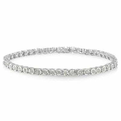""".925 Sterling Silver 1.0 Cttw Diamond Miracle Tennis Bracelet (I-J Color, I3 Clarity) - 7"""""""