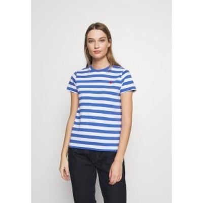 ラルフローレン レディース Tシャツ トップス Print T-shirt - white/indigo sky white/indigo sky