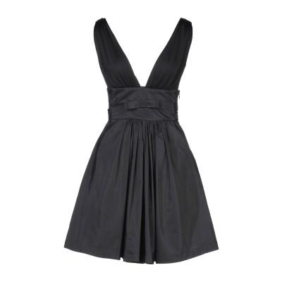 マニラ グレース MANILA GRACE ミニワンピース&ドレス ブラック 42 レーヨン 73% / ポリエステル 27% / コットン / ナ