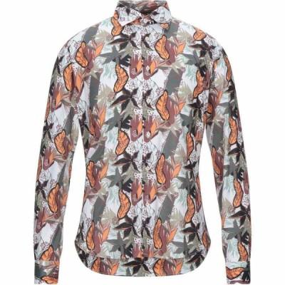 スティロソフィー インダストリー STILOSOPHY INDUSTRY メンズ シャツ トップス patterned shirt White