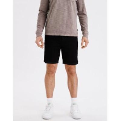 アメリカンイーグル メンズ ハーフパンツ・ショーツ ボトムス AE AirFlex+ Athletic Denim Short Black
