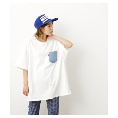 tシャツ Tシャツ デニムポケットビッグTシャツ