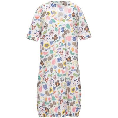 CAMICETTASNOB ミニワンピース&ドレス ホワイト 44 コットン 70% / シルク 30% ミニワンピース&ドレス