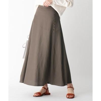 スカート Liサイドボタンフレアスカート