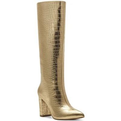 アイエヌシーインターナショナルコンセプト レディース ブーツ&レインブーツ シューズ INC Paiton Block-Heel Boots Gold Croc