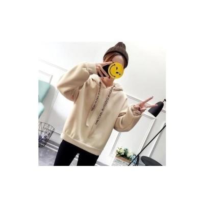 【セール】パーカー レディース プルオーバー SI ルーズ ドロップショルダー 無地 シンプル 大きめ 体型カバー 秋冬